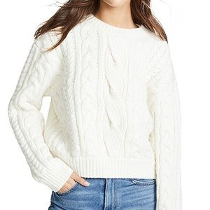 NWT Frame Denim Cable Knit Chunky Wool Sweater XL
